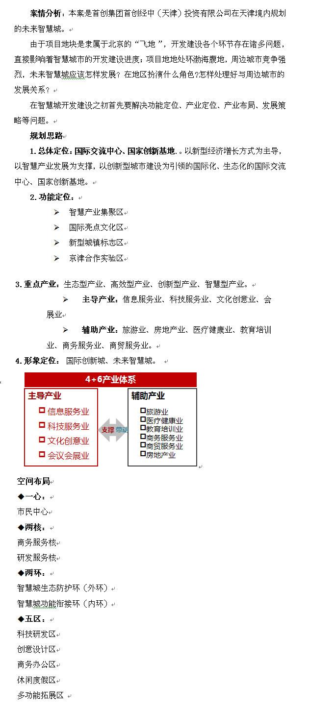 天津未来智慧城定位及发展策划