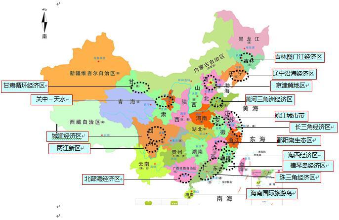 成渝经济区规划框定 四川15市重庆31区县具体什么哪些